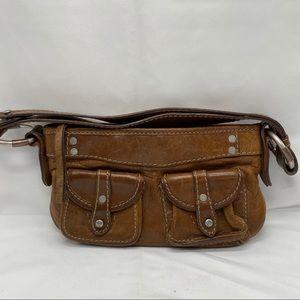 Ruehl No. 925 Brwn Distressed Leather shoulder Bag